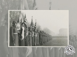 A Third Reich Period Photo of Flag Bearers Unit