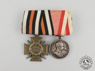 A First War Austrian Bravery Medal Bar Grouping