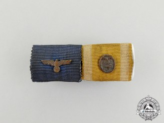 A Third Reich Period Wehrmacht Long Service Medal Ribbon Bar Grouping