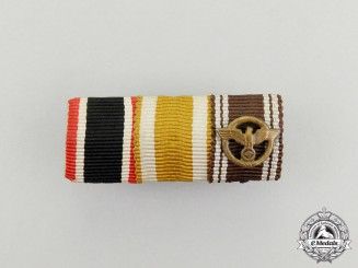 A Second War German NSDAP Faithful Service Medal Ribbon Bar