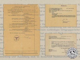 A Document Group to Luftwaffe Hauptmann Dr. Eugen Kahn; Bulgarian Pilot Badge