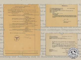 Germany, Luftwafffe. A Document Group to Hauptmann Dr. Eugen Kahn; Bulgarian Pilot Badge