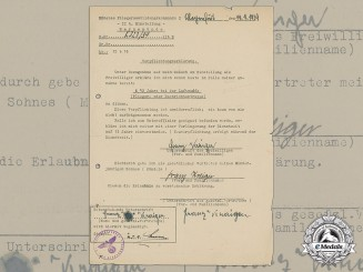A 1939 Luftwaffe Volunteer's Enlistment Statement
