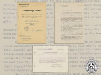 A Collection of Documents of Luftwaffe Observer Bruno Falkenhagen; British POW in Egypt