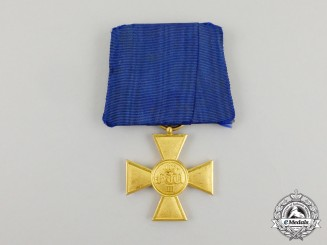 Prussia, State. A Military Long Service Cross for Twenty-Five Years' Service, Type I (1825-1913)