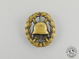 A First War Imperial German Black Grade Wound Badge; Hollow Stamped Version
