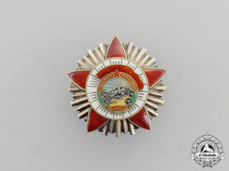 A Mongolian Order of the Red Banner of Combat Valour
