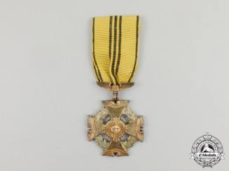 A Peruvian Aeronautical Merit Cross: First Class