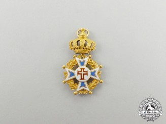 A Miniature Portuguese Military Order of Christ in Gold