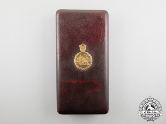 An Iranian Order of the Crown, 3rd Class Commander Set Case