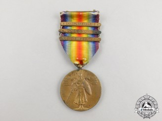An American First War Victory Medal with Three Clasps
