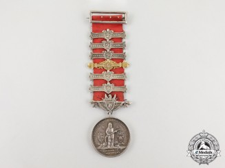 A New Zealand United Fire Brigades' Association Long Service Medal 1922-1943