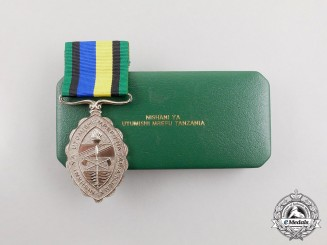 A Tanzanian Army Long Service and Good Conduct Medal, Cased