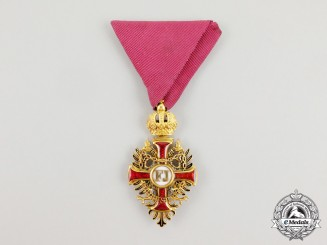 An Early Austrian Order of Franz Joseph in Gold by Gebruder Resch