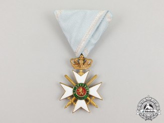 A Bulgarian Military Order of Bravery; 3rd Class Officer's Cross
