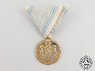 A Royal Serbian Medal for Service to the Royal Household 1889-1903, 2nd Class