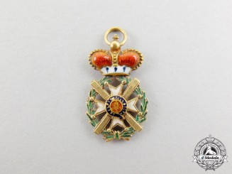 A Fine Miniature Serbian Order of Takovo in Gold