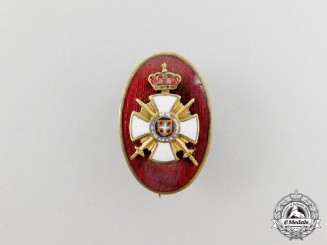 A Member's Badge of the Society of the Serbian Order of Star of Karageorge Recipients