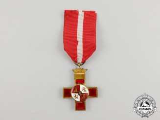 A Spanish Order of Military Merit with Red Distinction, 1st Class, Spanish Civil War Period with Franco Crown (1938-1939)