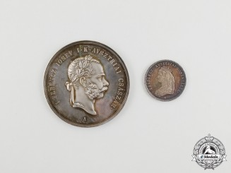 Two Hungarian Coronation Commemorative Medals 1867