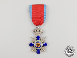 A Romanian Order of the Star of Romania, Knight with Swords, Type II (1932-1947)