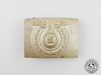 A Second War German SS EM/NCO's Standard Issue Belt Buckle by Overhoff & Cie