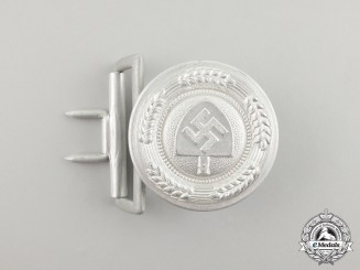 A Mint Second War German RAD (National Labour Service) Leader's Belt Buckle