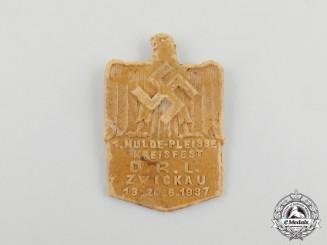 A 1937 DRL Zwickau District Gymnastics Festival Badge