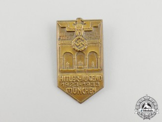 A 1923-33 10-Year Anniversary of the HJ in Munich Badge