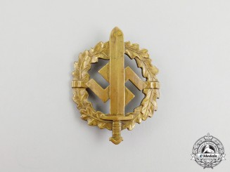 A Third Reich Period Bronze Grade SA Sports Badge by Bonner Kunstabzeichen Bedarf Fabrik