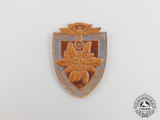 A 1939 NSKK (National Socialist Motor Corps) Group Hochland Competition Badge