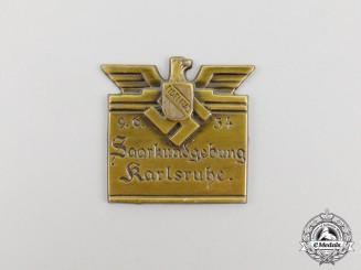 A 1934 Karlsruhe Regional Announcement Badge