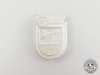 A 1937 Opening Ceremony of the VAW Aluminum Factory in Töging Badge by Deschler & Sohn