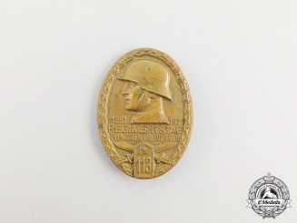 A 1931 Day of the 113 Regiment in Freiburg Badge
