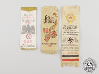 Three Third Reich Period German Miniature Festival Banners