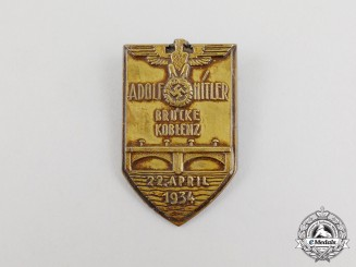 A 1934 Opening of the A.H Bridge in Koblenz Badge