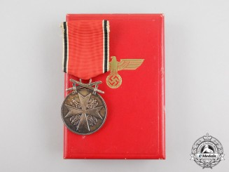 A German Eagle Order Merit Medal with Swords; Published Example with Case