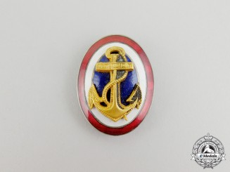A  Kingdom of Yugoslavia, Navy Officer's Cap Badge