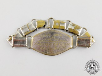 A Bracelet Belonging to a Member of the First Special Service Force; Dated 1944