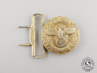 A NSDAP Political Leader's Brocade Dress Belt Buckle Hermann Wernstein of Jena