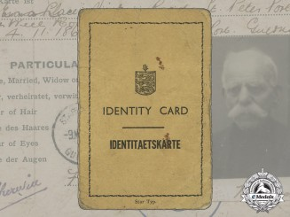 A Rare ID Card from German-Occupied Channel Island Guernsey