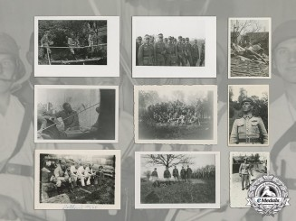A Feldwebel's collection of 15 wartime photos, including Lt. Wonde (KC)