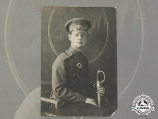 A Period Studio Photo of an Imperial Russian Lance Corporal