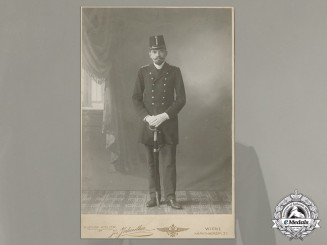 A First War Period Studio Photo of an Imperial Austro-Hungarian Artillery Soldier