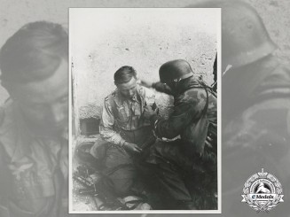 An Official Wartime Propaganda Photo with Wounded Luftwaffe NCO