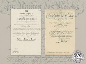 Two Promotional Documents Knight`s Cross Recipient Theodor Preu