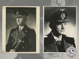 A Collection of Documents & a Thank-You card by Grand Admiral Dönitz