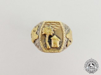 A Fine Quality Second War Period German Afrika Korps Man's Ring