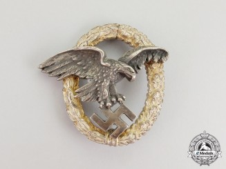 An Early Luftwaffe Observer's Badge by Juncker