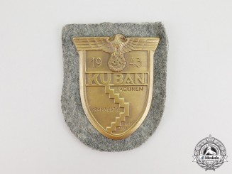 A Second War German Wehrmacht Heer (Army) Issue Kuban Campaign Shield